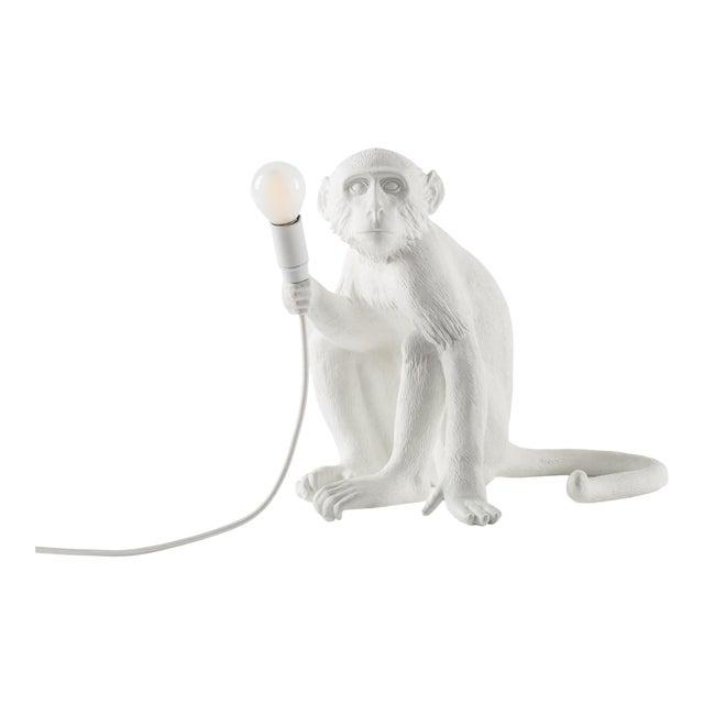Seletti, Sitting Monkey Lamp, White, Marcantonio, 2016 For Sale