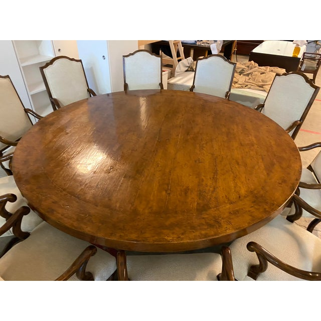 Michael Taylor Table + Set of 10 Custom Design Chairs Dining Set For Sale - Image 12 of 13