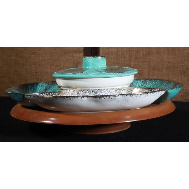 Vintage California Pottery Lazy Susan - Image 6 of 8
