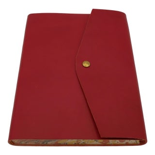 Softcover Leather Red Notebook For Sale