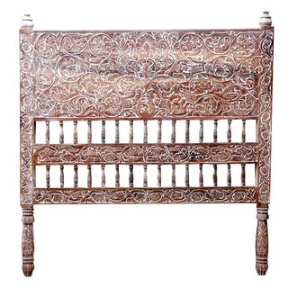 Elegant Indo French Carved Headboard