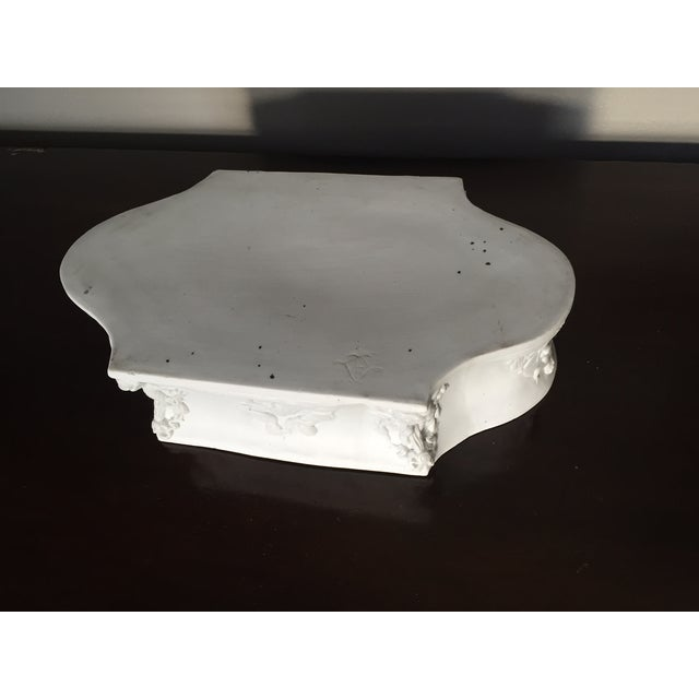 Rectangular White Bisque Floral Tray - Image 8 of 9