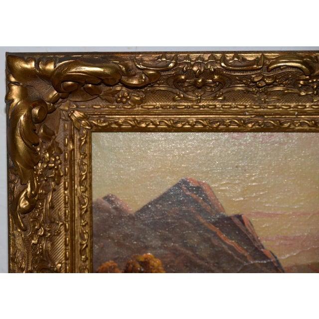 Thomas C. Blake Luminous Mountain Landscape Oil Painting C.1920 For Sale - Image 4 of 8