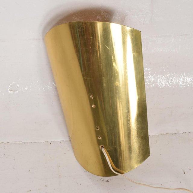 For your consideration, a Mid-Century Modern Shield Sconce, Italian Modernist. Made in Italy circa the 1950s. Original...