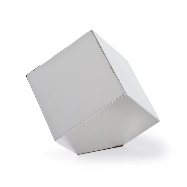 Not Yet Made - Made To Order Closed Standing Cube in Nickel For Sale - Image 5 of 5