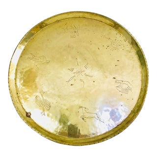 Zodiac Vintage Brass Tray