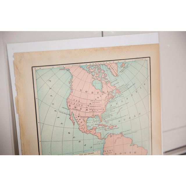 1900s Cram's 1907 Map of Americas For Sale - Image 5 of 8
