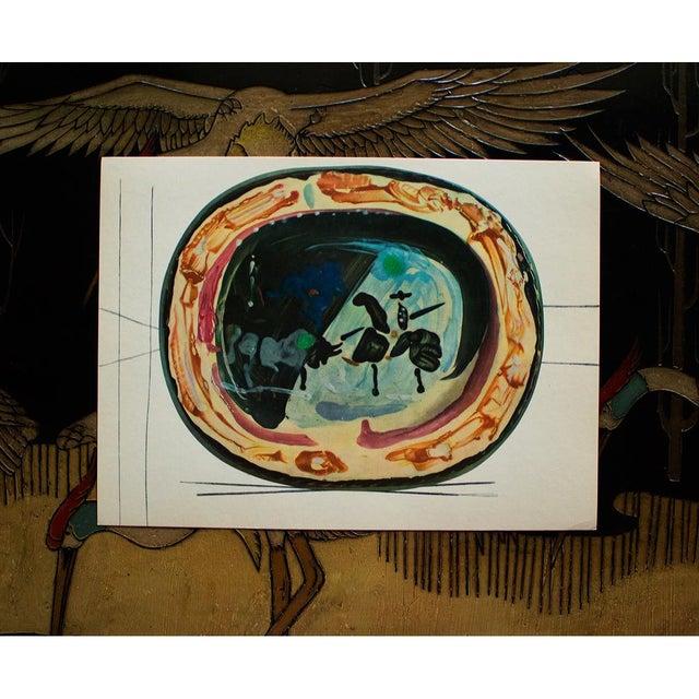 1950s 1955 Pablo Picasso, Picador and a Bull Ceramics Plate, Original Period Swiss Lithograph For Sale - Image 5 of 6