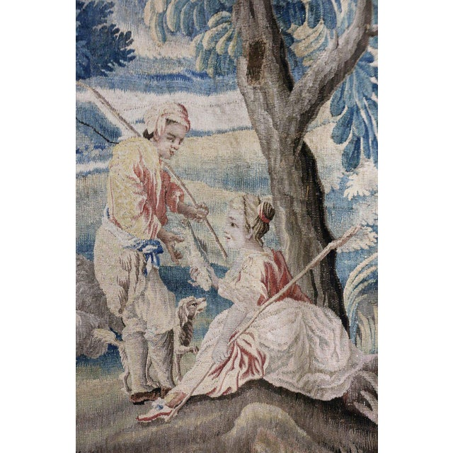 Louis XV Aubusson Landscape Tapestry For Sale - Image 3 of 9