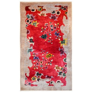 Unusual Chinese Art Deco Rug For Sale