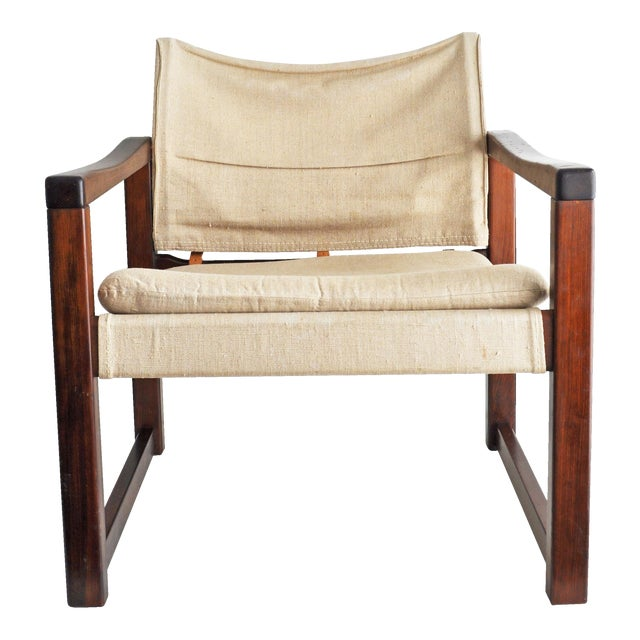 Vintage Safari Style Lounge Chair - Image 1 of 9