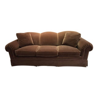 Contemporary Traditional Isenhour Sable Mohair Sofa