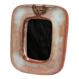 Eugene Fidler Miroir Au Personnage - Glazed Ceramic Mirror For Sale