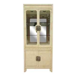 Henredon Chinoiserie Style Display Cabinet For Sale