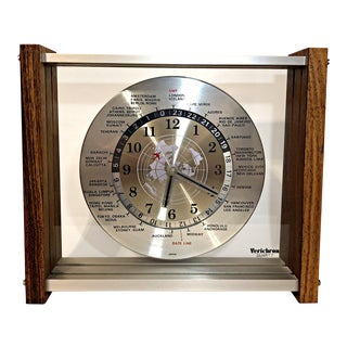 Mid-Century Verichron World Time Clock