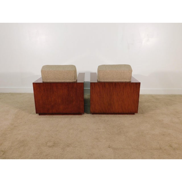 Henredon Henredon Ralph Lauren Rosewood Metropolis Collection Club Tub Deck Chairs- A Pair For Sale - Image 4 of 13