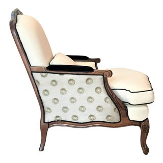 Vintage Mid Century Bergere Club Chair For Sale