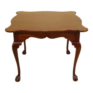 Statton Old Towne Ball & Claw Cherry Small Dining or Center Table For Sale