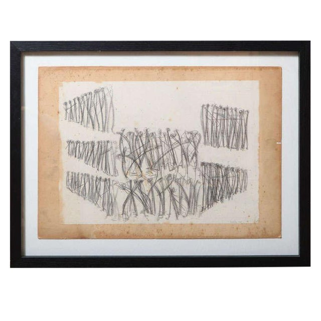 Original Charcoal Bauhaus Style Art - Image 1 of 9