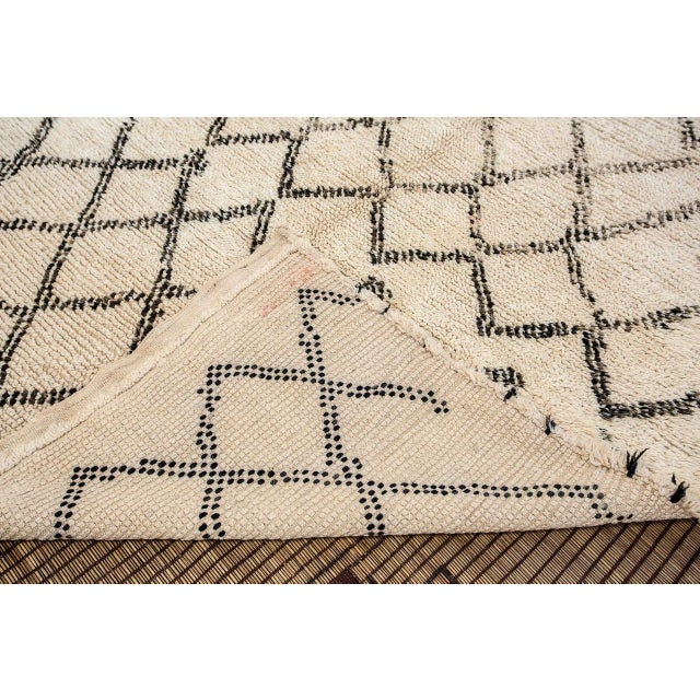 Textile Moroccan Vintage Beni Ouarain Rug North Africa For Sale - Image 7 of 8