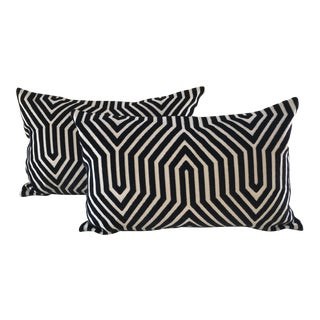 Schumacher Vanderbilt Large Kidney Pillows - A Pair