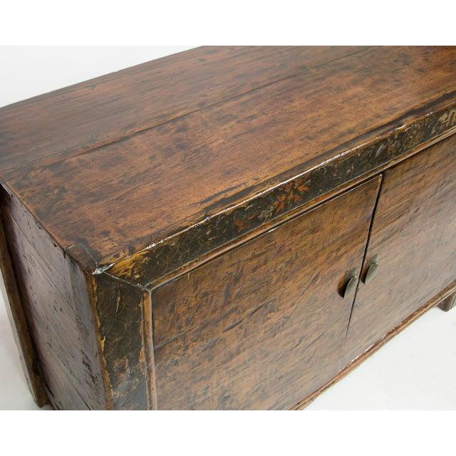 Asian Antique Mongolian 2-Door Cabinet For Sale - Image 3 of 4