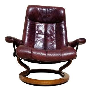 1980s Vintage Ekornes Recliner Lounge Chair For Sale