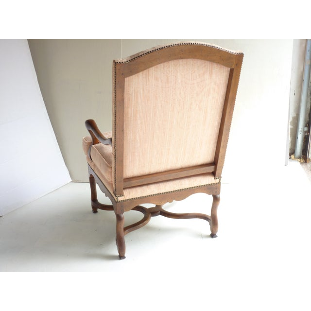 Soft Peach Louis XV-Style Fauteuil - Image 3 of 5