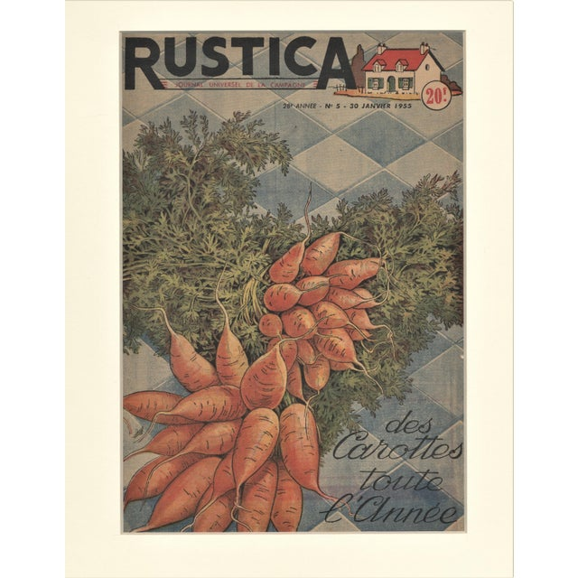 This is one of a grouping of Mid-Century 1950's vegetable prints perfect for your country kitchen! It is cover art for a...