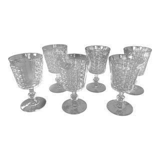 Late 19th Century Antique Richards & Hartley Glass Water Goblets - Set of 6