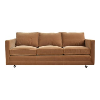 Ward Bennett Camel Mohair Sofa by Brickel For Sale