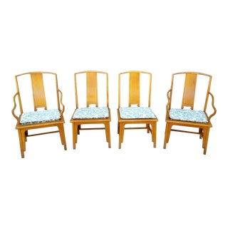 1960s Ming Baker Furniture Yoke Back Dining Chairs - Set of 4