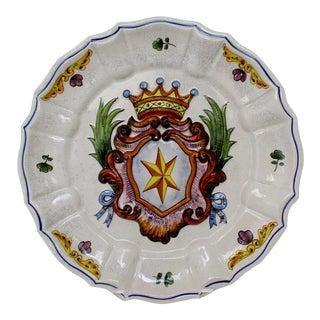 Italian Coat of Arms Plate For Sale