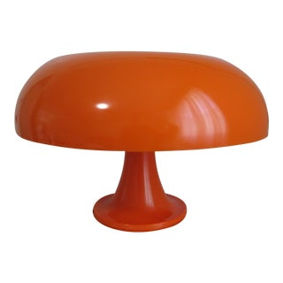 Artemide Nesso Space Age Orange Table Lamp