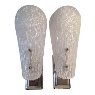 Pair of Austrian Glass Sconces For Sale
