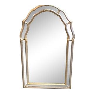 1985 Italian Gold and Silver Leaf Mirror For Sale