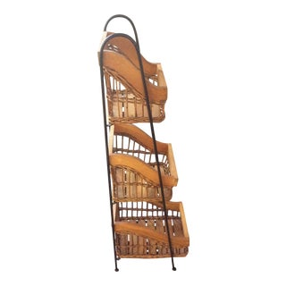 1980s Rustic 3 Basket Etagere For Sale