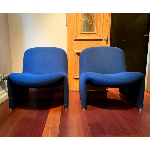 """Pair of fabulous mid century modern """"Alky"""" lounge chairs designed by Giancarlo Piretti for Castelli, Italy c 1970s. Iconic..."""