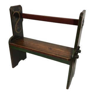 Late 19th Century English Painted Bench For Sale