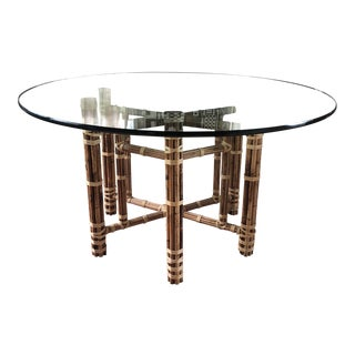 McGuire Bamboo Circular Dining Table