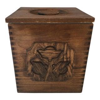 Sears Roebuck Mid-Century Wood Ice Bucket