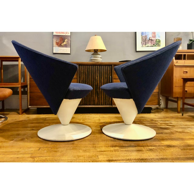 Mid-Century Modern Mid Century Modern Adrian Pearsall Cone Chairs for Craft Associates - a Pair For Sale - Image 3 of 11