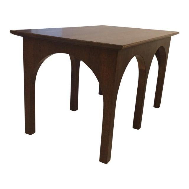 Robsjohn Gibbings Walnut Coliseum Side Table For Sale