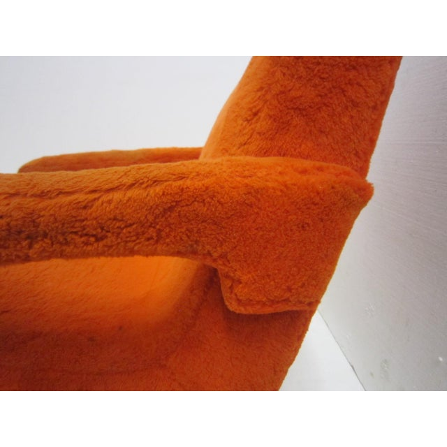 Mid-Century Italian Upholstered Lounge Slipper Chairs - a Pair For Sale In New York - Image 6 of 13