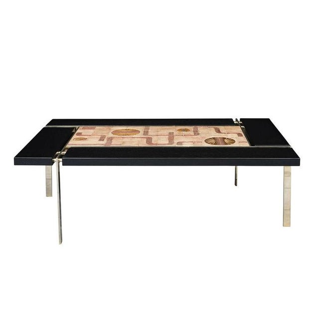 Svend Aage Jessen coffee table produced by Sejer. Wood is ebonized oak. Store formerly known as ARTFUL DODGER INC
