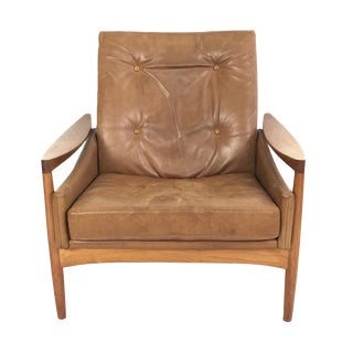 1960s Vintage Erik Worts Danish Armchair For Sale