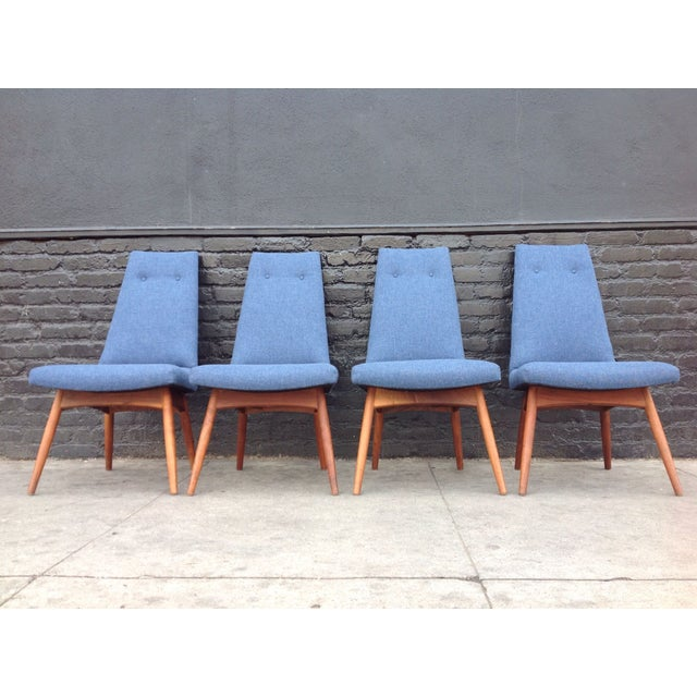 Blue Adrian Pearsall Dining Chairs - Set of 4 For Sale - Image 5 of 6