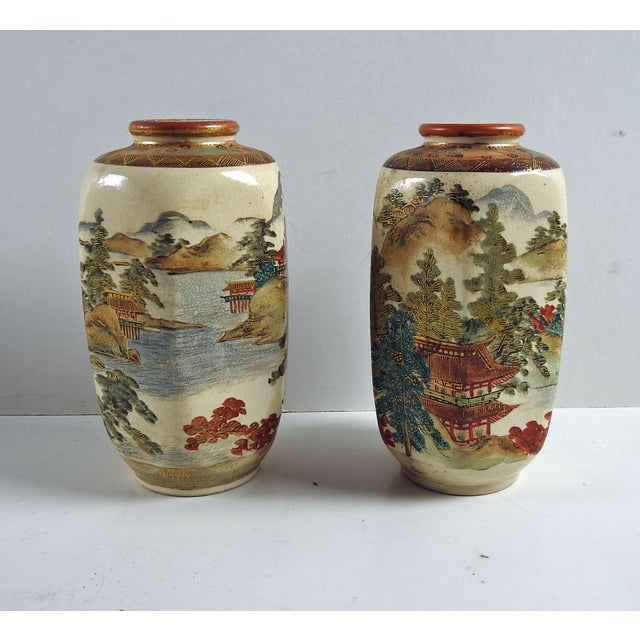 Antique Meiji Period Satsuma Vases A Pair Chairish
