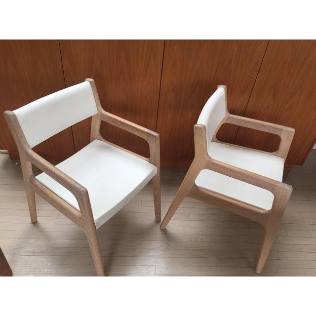 Contemporary De La Espada White Oak Deer Armchairs - a Pair For Sale - Image 10 of 11