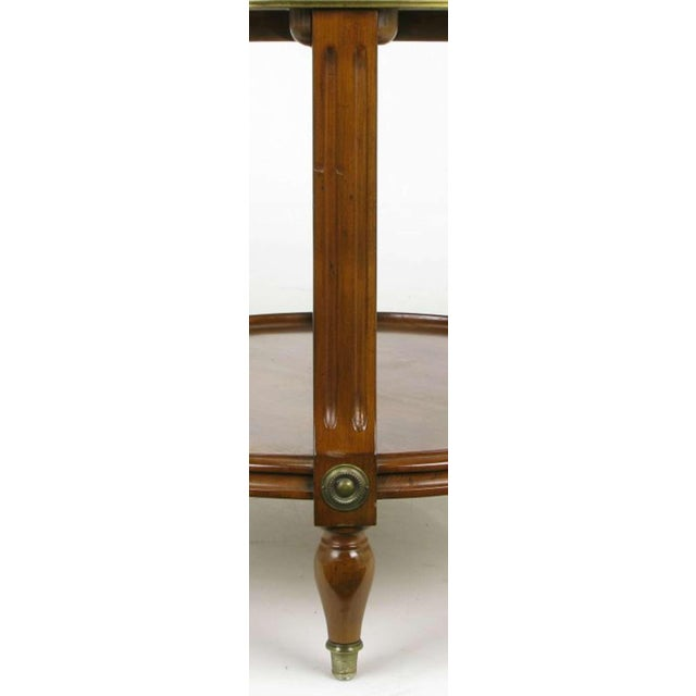 French Walnut & Carrera Marble Round Four-Tier Serving Table For Sale In Chicago - Image 6 of 9